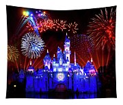 Disneyland 60th Anniversary Fireworks Tapestry