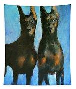 Doberman Family Tapestry