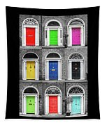 Doors Of Dublin - Vertical Tapestry