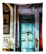 Doors Of India - Blue Door And Red Door Tapestry by Miles Whittingham