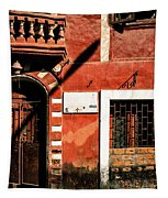 Doors Of India - Old Trader Door Tapestry by Miles Whittingham