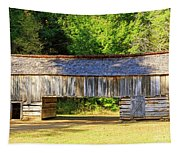 Double Crib Barn In Cades Cove In Smoky Mountains National Park Tapestry