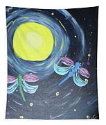 Dragonflies And Moonlight Tapestry