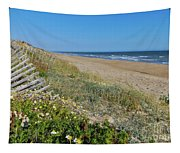 Dunes Wooden Fence Tapestry