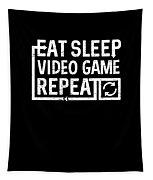 Eat Sleep Video Game Tapestry