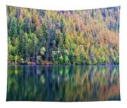 Echo Lake Autumn Shore Tapestry