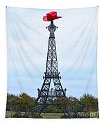 Eiffel Tower In Paris Texas Tapestry