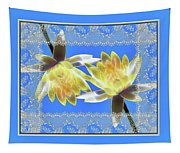 Electric Yellow Water Lilies Tapestry