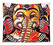 Elephant Face Tapestry