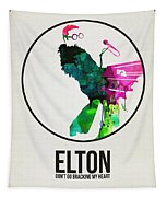 Elton Watercolor Poster Tapestry
