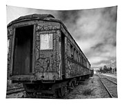 End Of The Line Bw Tapestry
