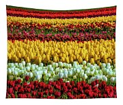 Endless Beautiful Tulip Fields Tapestry
