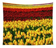 Endless Tulip Fields Tapestry