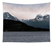 View Over Ensenada Bay Of High Peaks In Tierra Del Fuego National Park, Ushuaia, Argentina Tapestry
