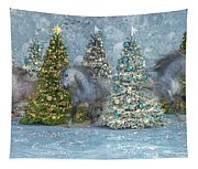 Equine Holiday Spirits Tapestry