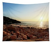 Evening Glow At Porth Nanven Tapestry