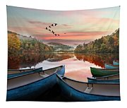 Evening On The Lake Tapestry
