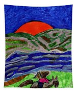 Evening Ride Tapestry