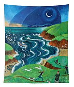 Evening Sea Breezes Tapestry