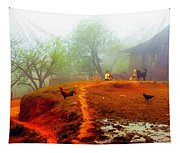 Family On A Hill In Sapa, Vietnam Tapestry
