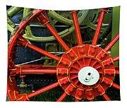 Fancy Tractor Wheel Tapestry