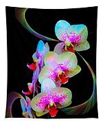Fantasy Orchids In Full Color Tapestry