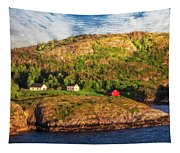Farm On The Edge Tapestry