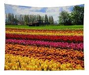 Farming Tulips Tapestry