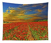 Field Of Flowers Tapestry