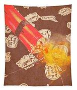 Fiery Fuse Tapestry