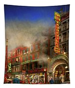Firefighter - Fire Sale Today Only 1916 Tapestry by Mike Savad