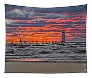First Day Of Fall Sunset Tapestry