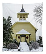 First Presbyterian Church In The Snow Tapestry