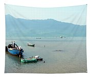Fisherman In Lang Co, Vietnam Tapestry