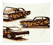 Flamin Chevrolet 66 Nova Tapestry