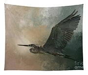 Flight Of The Great Blue Tapestry