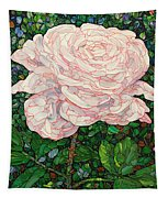 Floral Interpretation - White Rose Tapestry by James W Johnson