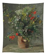 Flowers In A Vase, Circa 1866 Tapestry