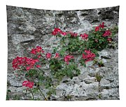 Flowers On Stone Tapestry