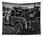 Ford F4 Tow The Truck Business End Black And White Tapestry