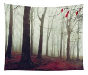 Forest In December Mist Tapestry