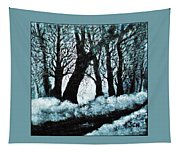 Forest Misty Dawn In Late Fall Tapestry