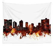 Fort Worth Skyline Brown Tapestry