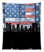 Fort Worth Skyline Flag 3 Tapestry