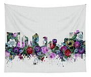 Fort Worth Skyline Floral 2 Tapestry