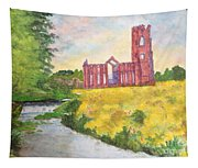 Fountains Abbey In Yorkshire Through Japanese Eyes Tapestry