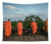 Four Monks And A Phone. Tapestry