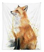 Fox Watercolor Tapestry