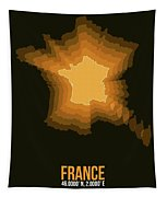 France Radiant Map 3 Tapestry