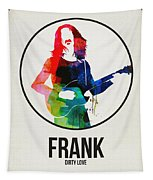 Frank Zappa Watercolor Tapestry